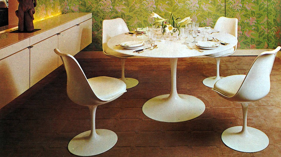 Ob das zum eigenen Zuhause passt? Tulip-Chair-Ensemble von Eero Saarinen