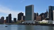 Das Hauptquartier der Vereinten Nationen am East River in New York (Archivbild)