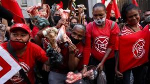 Obdachlose besetzen Börse und protestieren gegen Hunger