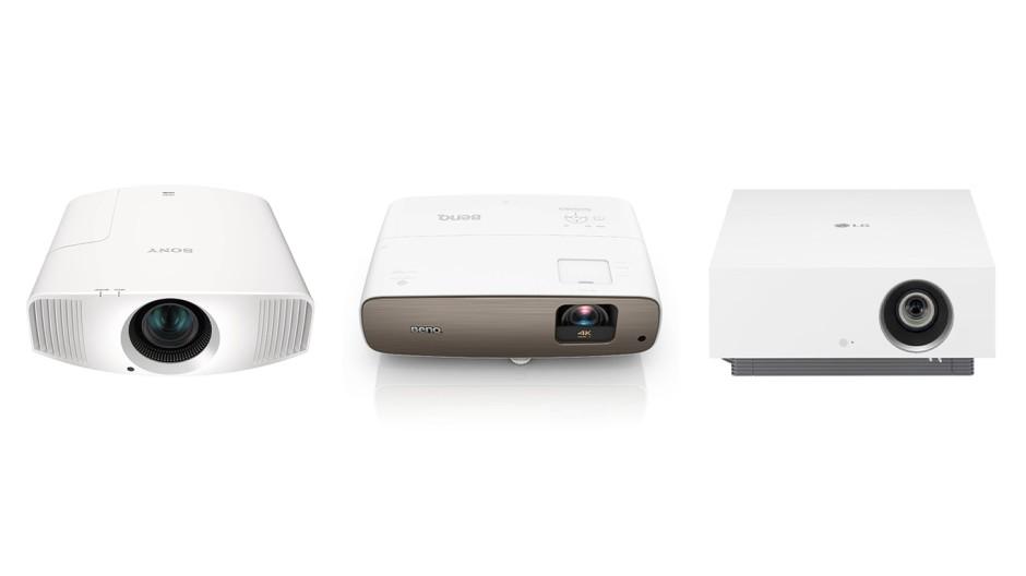 Drei Beamer von Sony, BenQ und LG im Test.