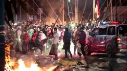 Schwere Ausschreitungen in Jakarta