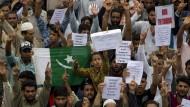 Proteste in Kaschmir: Die Region wurde vom Internetzugang gekappt.