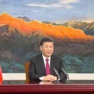 Chinas Staatspräsident Xi Jinping bei seiner Rede zum Weltwirtschaftsforum