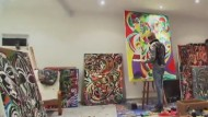 Leon Löwentraut ist mit 18 Jahren schon ein Kunststar