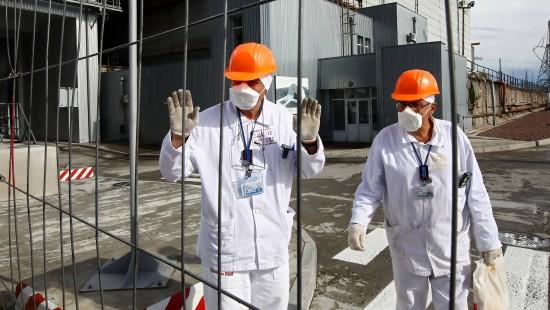 Neue Schutzhülle für Reaktor