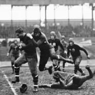 Erinnerungen aus den Kindheitstagen: Spielszene aus einer Partie der New York Giants gegen die Green Bay Packers im November 1929