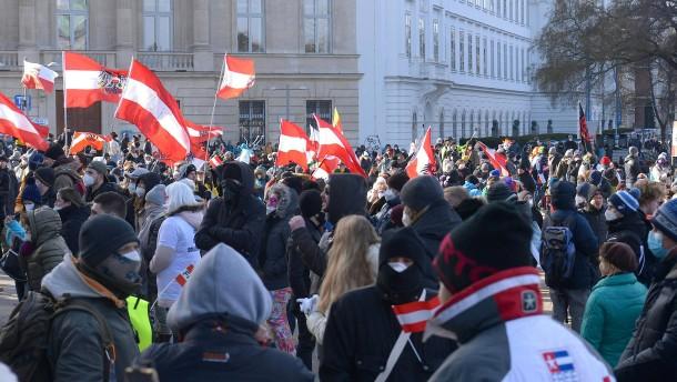Proteste gegen Corona-Maßnahmen in Wien