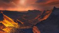 Jede Entdeckung eines Exoplanet regt die Fantasie der Astro-Künstler auf Neue an: Hier eine Träumerei über die mögliche Oberfläche des Exoplaneten Barnards Stern b.