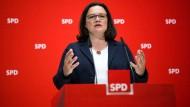 Andrea Nahles, Vorsitzende der SPD.