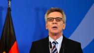 Ist von seinen Forderungen überzeugt: Bundesinnenminister Thomas de Maizière