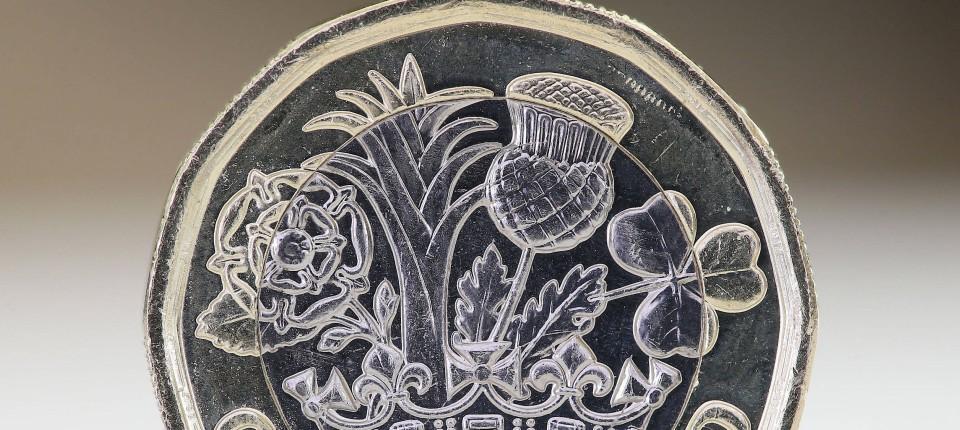Die Neue Pfund Münze Als Symbol Der Nationalen Einheit