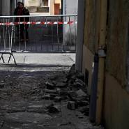 Die Ruhe nach dem Sturm: in der Gemeinde Le Teil sind die Schäden durch das Erdbeben deutlich sichtbar.