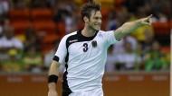 Auch Uwe Gensheimer ist bereit Frankreich zu besiegen und ins Finale einzuziehen.