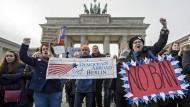 Anti-Trump-Proteste in Berlin