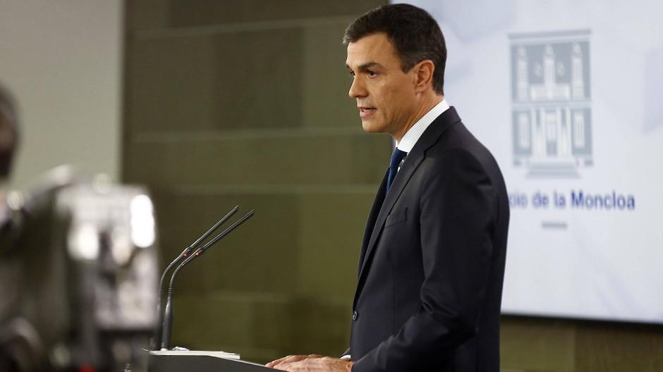 Niederlage bei Haushaltsabstimmung: Pedro Sanchez .