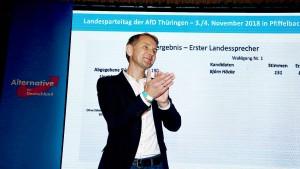 Höcke als Landesvorsitzender wiedergewählt