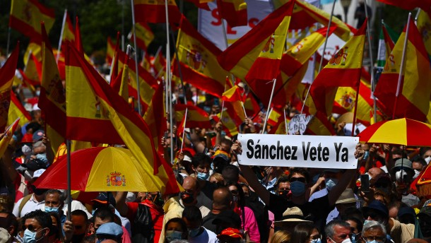 Protest gegen geplante Begnadigung von Separatisten