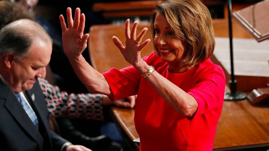 Ist nun Trumps wichtigste Gegenspielerin: die Demokratin Nancy Pelosi
