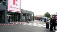 Am Tatort in Kerpen: Die Polizei hat den mutmaßlichen Angreifer festgenommen.