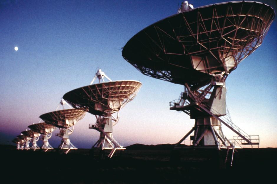Die Lokalisierung des Radioblitzes gelang mit Hilfe des Very Large Arrays in New Mexico.