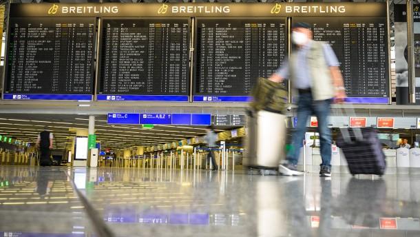 Abermals weniger Passagiere am Frankfurter Flughafen