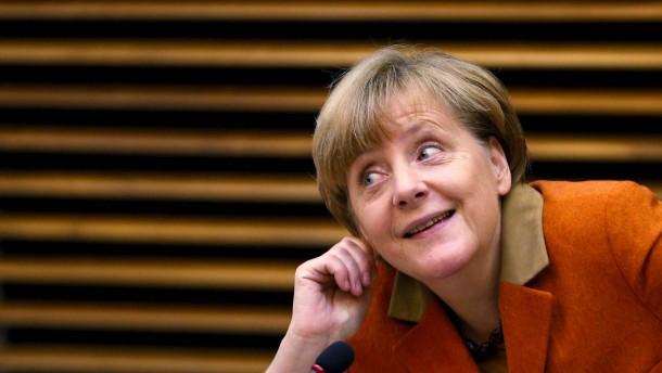 """Mrs. Merkel wächst an jeder Krise"""
