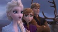 Die Idole kleiner Mädchen: Eiskönigin Elsa, ihre Schwester Anna und Gefolge