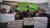 Teilnehmer einer Demonstration in Köln gegen die Übergriffe in der Silvesternacht