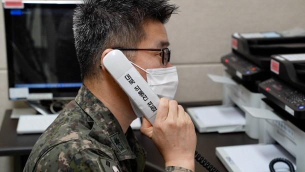Erstes Telefonat zwischen Nord- und Südkorea