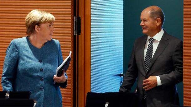 Merkel und Scholz uneins über EU-Schulden