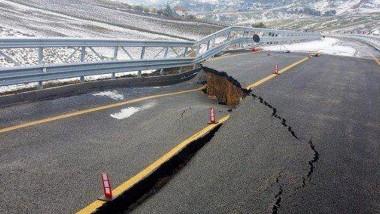 Brüchig: das wieder geschlossene Teilstück eines Straßen-Neubaus zwischen Palermo und Agrigent