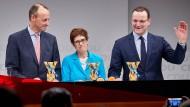 Kandidaten für den CDU-Vorsitz: Friedrich Merz (l.), Annegret Kramp-Karrenbauer und Jens Spahn (r.)