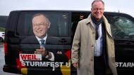 Dieses ganz bestimmte Lächeln: Stephan Weil bei einem Wahlkampftermin im Oktober