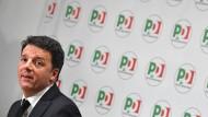 Abgestraft: der frühere italienische Ministerpräsident und Vorsitzender des PD Matteo Renzi