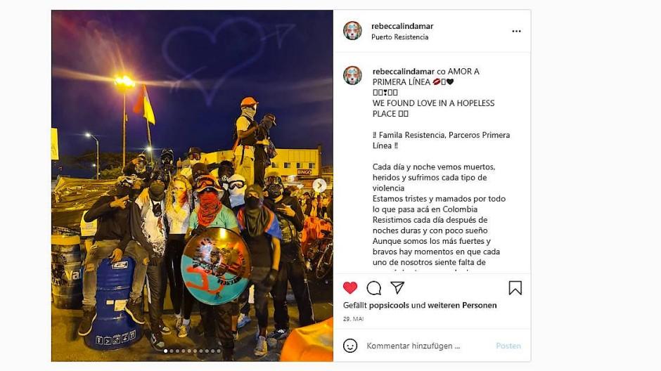 Rebecca Sprößer auf ihrem Instagram-Kanal Ende Mai