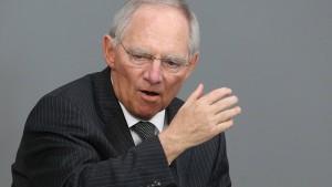 Schäuble verteidigt Sparkurs in Europa