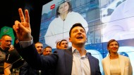 Hat die Präsidentenwahl gewonnen: der Politik-Neuling Wolodymyr Selenskyi
