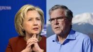 Das Dauerduell Clinton gegen Bush