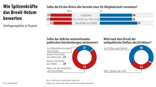 Infografik / Wie Spitzenkräfte das Brexit-Votum bewerten (Teil 2 v 2)