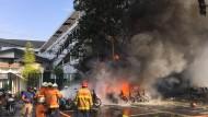 Explosion in Polizeiquartier