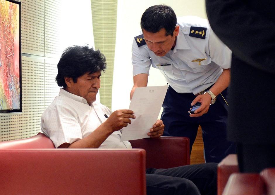 Zur Zwischenlandung gezwungen: Evo Morales