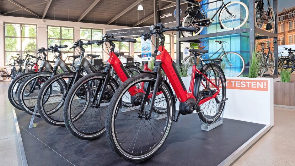 Gazelle-Testcenter für E-Bikes in Frankfurt