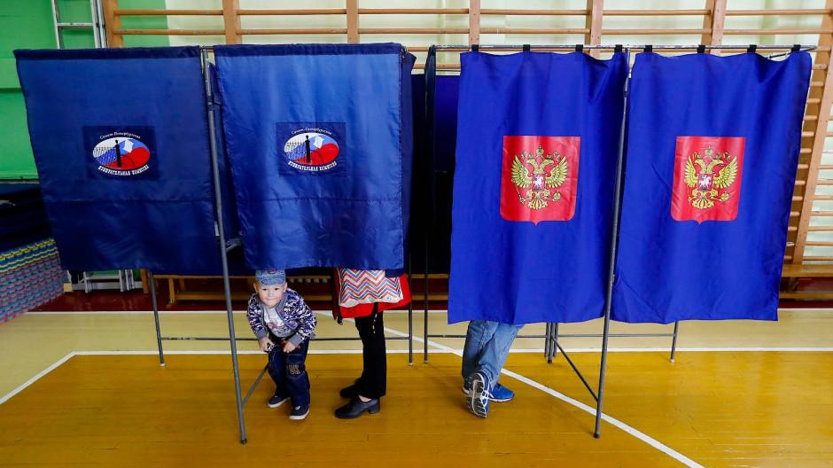 Wahllokal in St. Petersburg