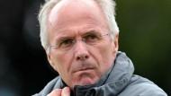 """Warm eingepackt: Sven-Göran Eriksson ist zu wenig kältebeständig für die """"Löwen"""""""