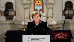 Merkel warnt vor wachsendem Antisemitismus