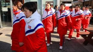 Nordkoreanische Eishockey-Spielerinnen in Südkorea eingetroffen