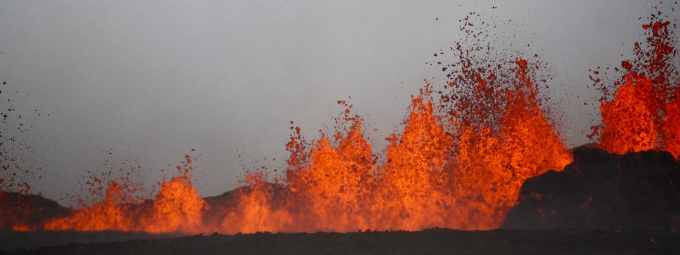 Vulkanausbrüche, Wie Hier Am Bardarbunga 2014, Sind In Island Keine  Seltenheit.