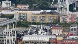 Dutzende Tote bei Einsturz von Autobahnbrücke