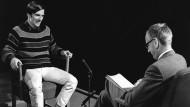 Rudi Dutschke in dem berühmten Fernsehinterview mit Günter Gaus