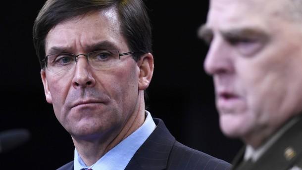 Pentagon stellt sich gegen Trumps Drohung